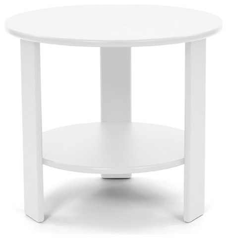 Lollygagger Side Table Round Cloud White Contemporary