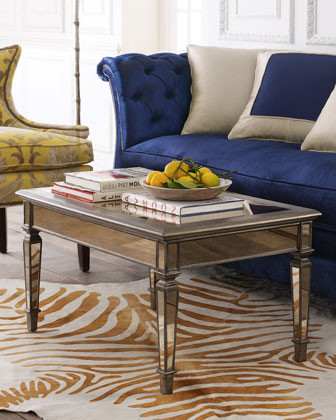 Hailey Mirrored Coffee Table traditional-coffee-tables