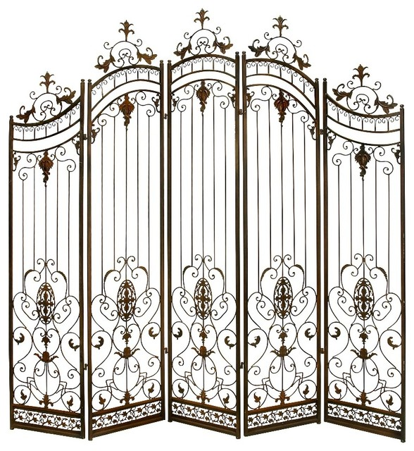 Victorian metal divider privacy screen bronze gold accent decor traditional screens and room - Decorative partitions room divider ...