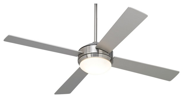 """Contemporary 52"""" Courier Brushed Nickel Ceiling Fan contemporary-ceiling-fans"""