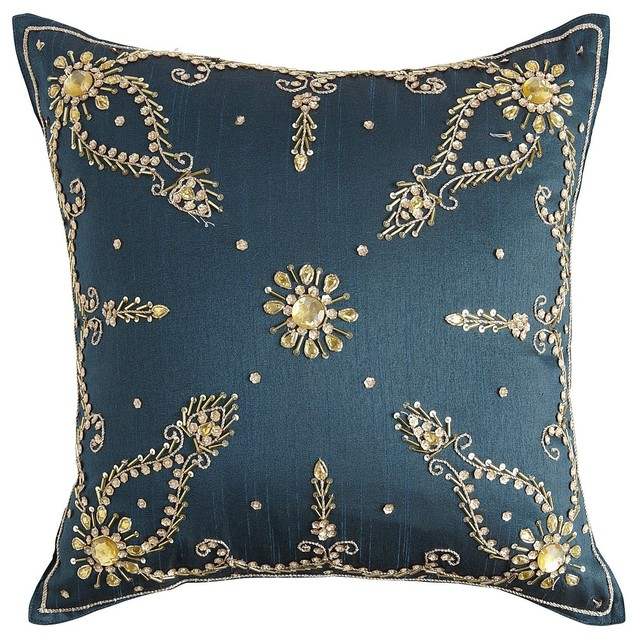 Jade Embellishment Pillow - Contemporary - Decorative Pillows - by Pier 1 Imports