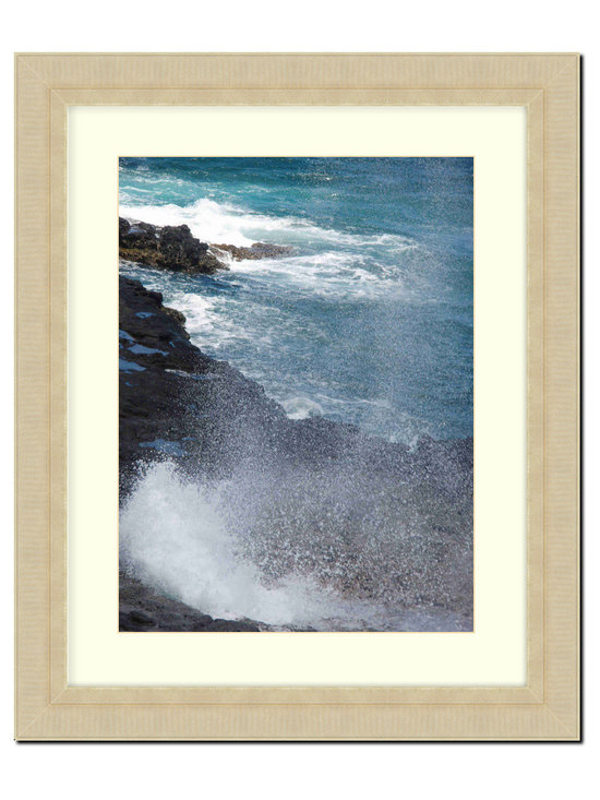 """Frames By Mail - Wall Picture Frame Champaign Ribbed finish with a white acid-free matte, 11x14 - This 11X14 champaign ribbed frame is imported from Italy.  The frame is 2.25"""" wide with a white matte, for an 8X10 picture, can be removed to accommodate a larger picture.  The frame includes regular plexi-glass (.098 thickness) foam core backing and can hang either horizontal or vertical."""