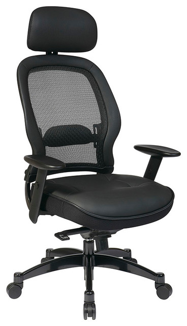 Space Seating 27 Series Professional Black Breathable Mesh Back Chair traditional-home-office-products