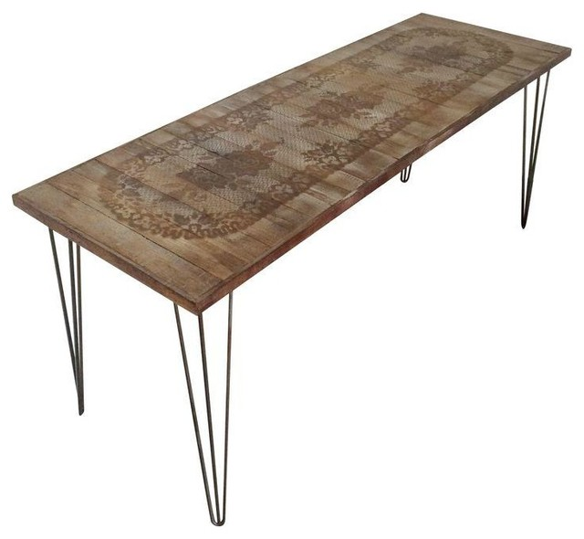 Pre Owned Antique Lace Runner Coffee Table Mediterranean Coffee Tables By Chairish
