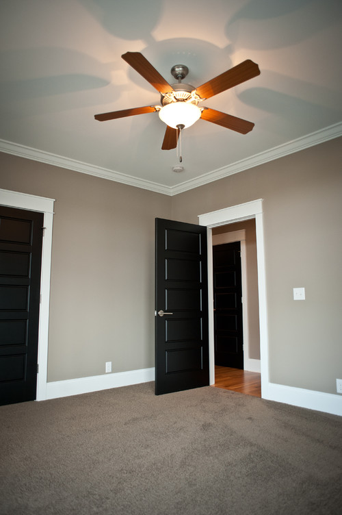 Love The Dark Doors Painted Trim Are Your Windows Or Stained