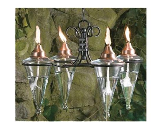Four Torch Chandelier -