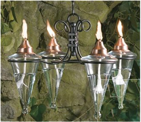 Four Torch Chandelier - traditional - outdoor lighting - other ...
