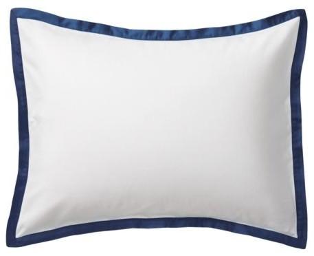 Navy Border Frame Sham traditional-pillowcases-and-shams