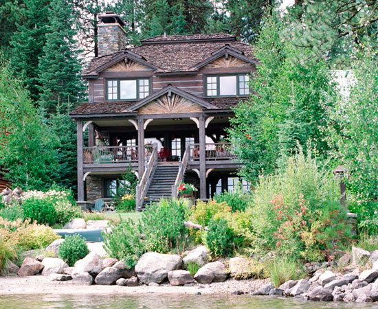 Lake Front Cabin traditional
