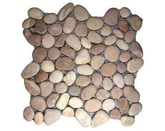 Berry Pebble Tile rustic-tile