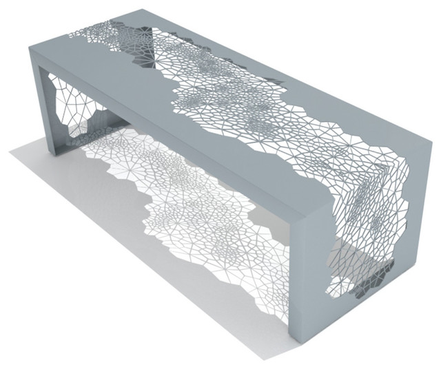 Hive Bench (Medium / Grey) modern-upholstered-benches