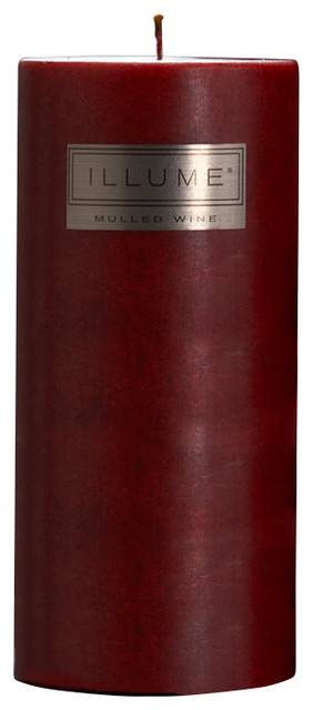 Illume Mulled Wine 3x6 Pillar Candle contemporary-candles-and-candleholders