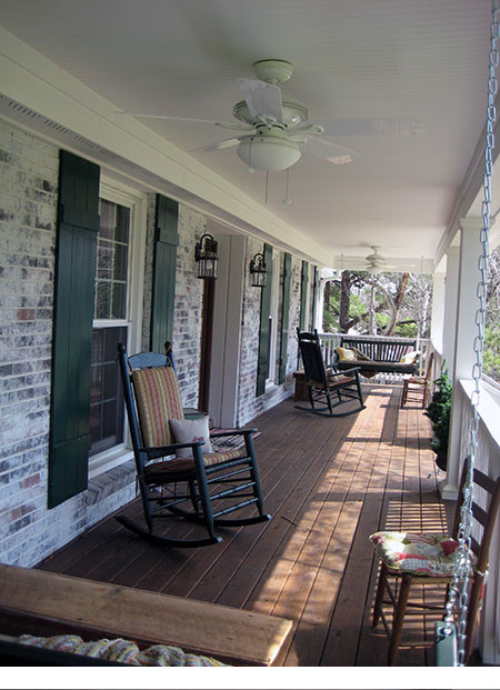 Building a Front Porch for a Brentwood Family traditional
