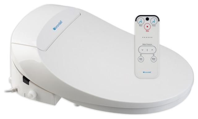 Swash 300 Advanced Bidet Toilet Seat, Elongated, White contemporary-toilet-seats
