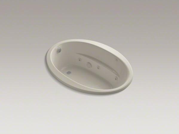 "KOHLER Sunward(R) 60"" x 42"" drop-in whirlpool with custon pump location and heat contemporary-bathtubs"