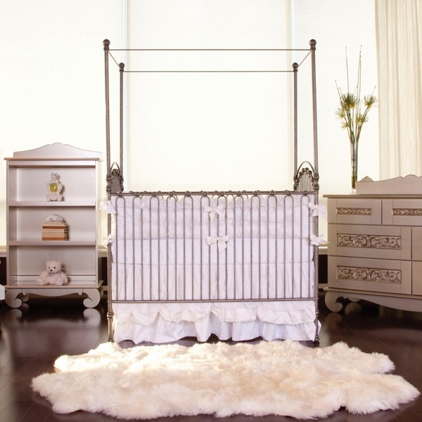 Venetian Crib in Pewter by Bratt Decor, Cribs, Furniture for Girls traditional-cribs