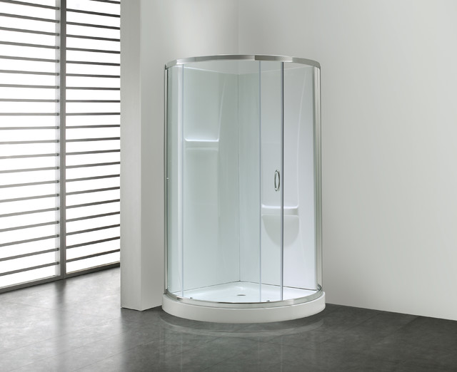 Ove Decors 39 Breeze 39 34 Inch Round Corner Shower Enclosure Contempor