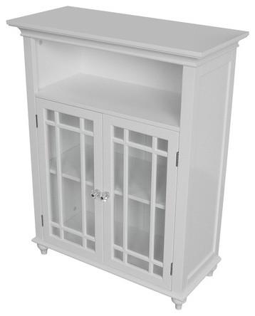 Neal Double Door Floor Cabinet Traditional Bathroom Cabinets And Shelves
