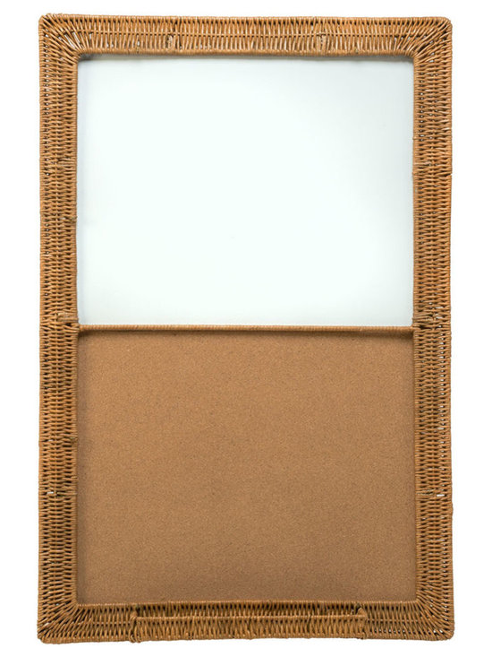 Kouboo - Magnetic Dry Erase & Cork Board with Wicker Frame 24x36 - Practical does not need to look industrial. Write down your chores and reminders on the dry erase board while pinning notes and fun pictures on the cork. The frame is hand woven from Wicker and can be hung vertically or horizontally depending on your needs. Whether you hang this practical board in your kitchen, home office or foyer, it will be as much decorative as it will be useful.