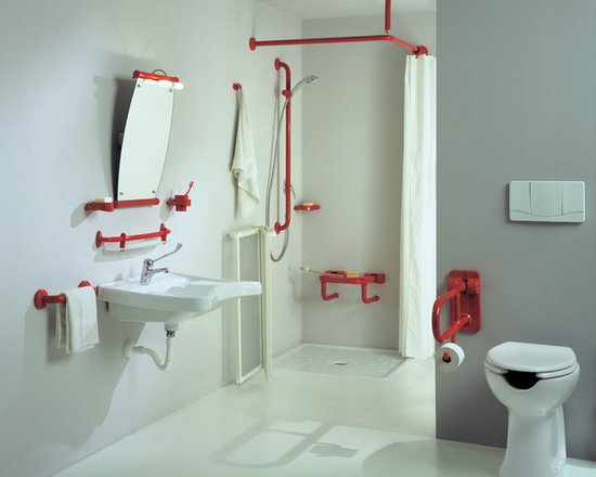 Accessible Bathroom with Hand Rails and Grab Bars -