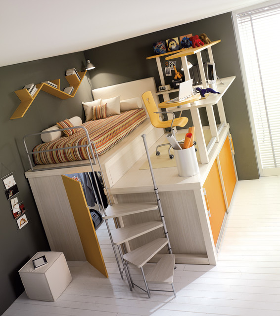 TUMIDEI - Storage Bed for Childs room contemporary kids beds