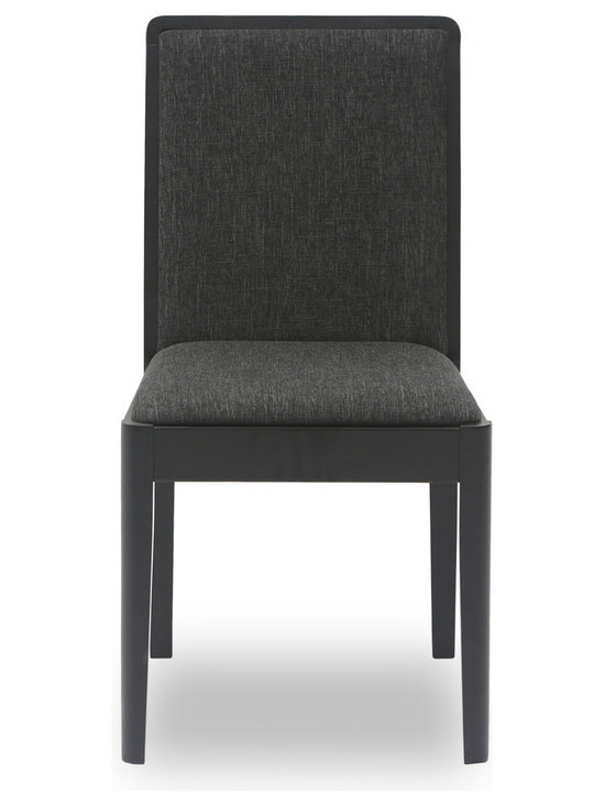 Bryght - Natasha Fabric Upholstered Dining Chair - The Natasha dining chair adds a perfect touch to any home decor with its modern yet comfortable dual view point design. Built from Malaysian oak and engineered wood, its clean and honest lines make it a stylish addition to any dining room