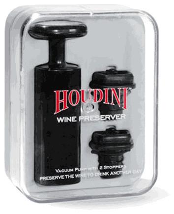 Metrokane Houdini Vacuum Wine Saver traditional-wine-and-bar-tools