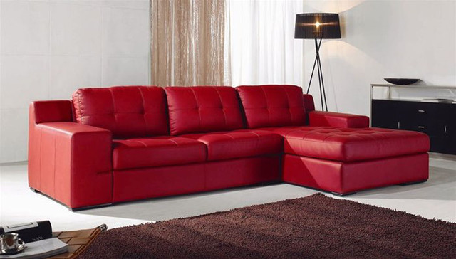 Unique Leather Upholstery Corner L shape Sofa
