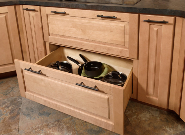 Pots pans storage cabinet for Kitchen drawers and cupboards