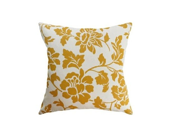 Colordrift Gabriella Feather Decorative Pillow, Gold -