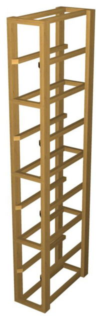 EcoWineracks Upper Magnum Rack, Golden Color, Clear Acrylic Finish traditional-wine-racks