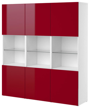 High gloss red kitchen cabinet doors cabinet category for Red high gloss kitchen doors