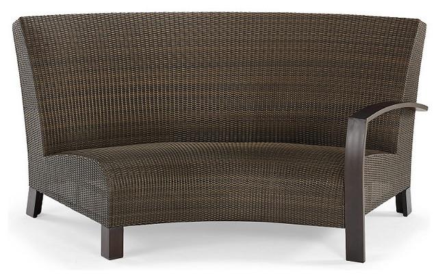 Del Mar Right Facing Curved Outdoor Sofa Patio Furniture