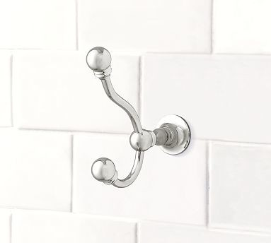 Sussex Wall Hook, Chrome finish traditional-wall-hooks