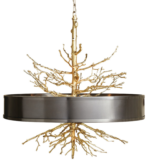 Twig Pendant Brass Contemporary Chandeliers By