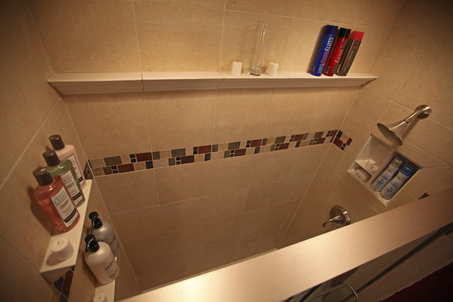 Recessed Bathroom Tile Niches - Traditional - Tile - dc metro - by Bathroom Tile Shower Shelves