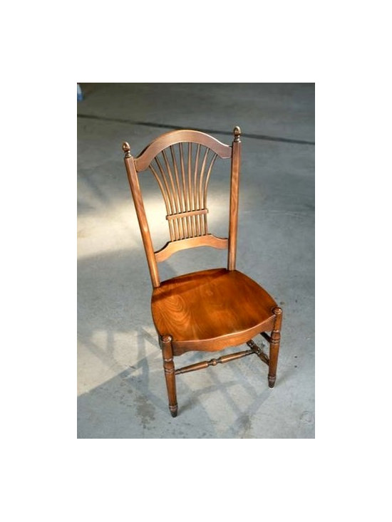 Fan Back Dining Chair In Fruitwood - Made by http://www.ecustomfinishes.com