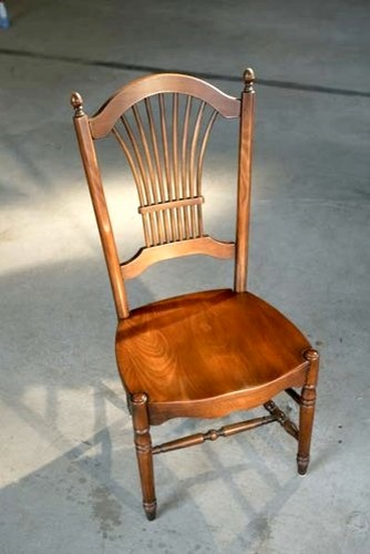 Fan Back Dining Chair In Fruitwood farmhouse-dining-chairs