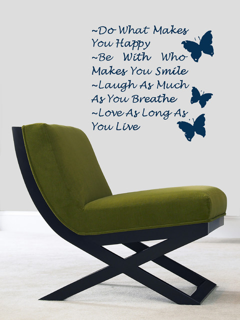 Wall Vinyl Sticker Decals Art Mural Inspirational Quote Do Be Happy Laugh Love modern decals