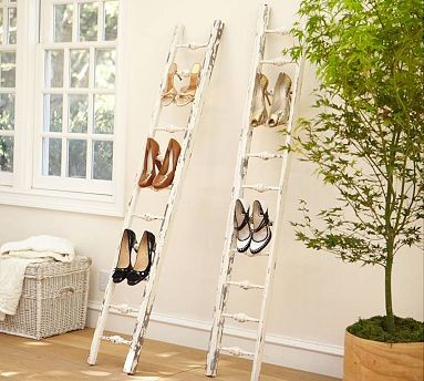 Wooden Shoe Ladder eclectic clothes and shoes organizers