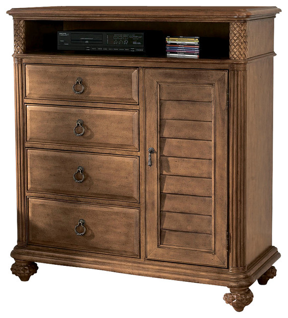 American Drew Grand Isle Media Cabinet in Amber traditional-entertainment-centers-and-tv-stands