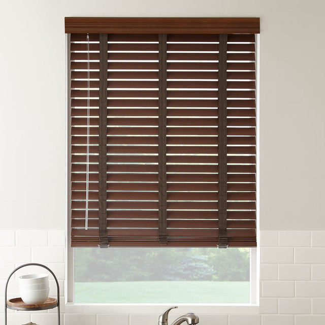 2 american hardwood wood blinds contemporary window