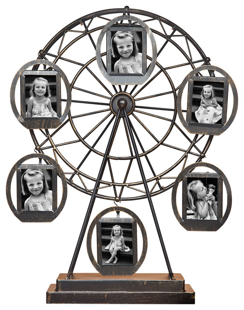 "Ferris Wheel Rotating Frame, 2""x3"" - Transitional - Picture Frames - by GODINGER SILVER"