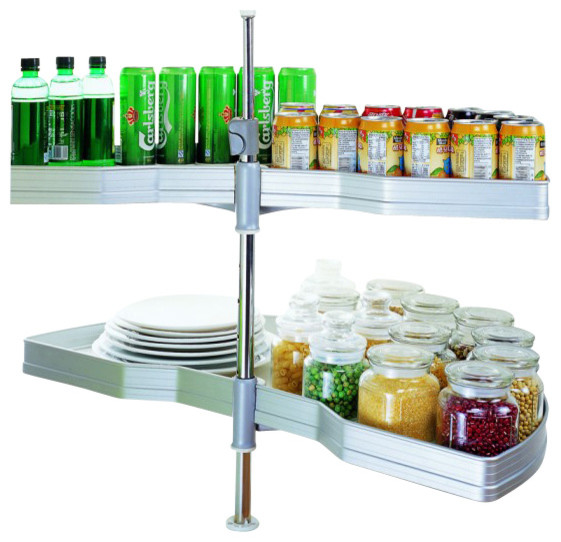 180 Aluminum Blind Corner Solution - Transitional - Pantry And Cabinet Organizers - by Pullouts Plus