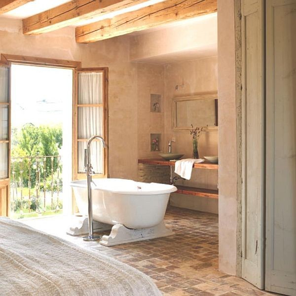 OLD FRENCH TERRACOTTA FLOOR - DESIGN FLOOR in FRENCH STYLE traditional