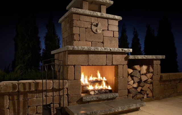Compact Fireplace Contemporary By Rockwood Retaining Walls