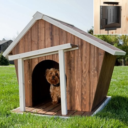Coral Coast Habitats Crooked Dog House with Heater eclectic-pet-supplies