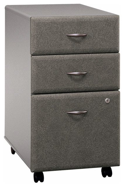 Three Drawer Filing Cabinet in Pewter Colored ...
