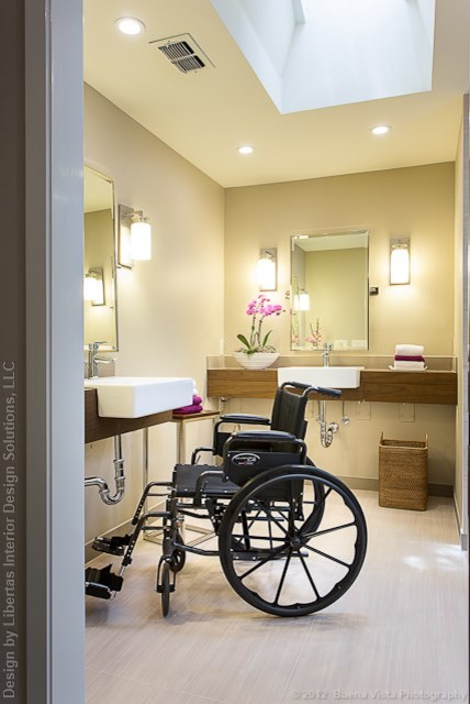 accessible, barrier free, aging-in-place, universal design bathroom remodel modern