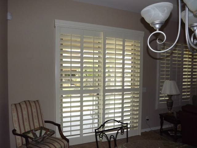 On sliding glass doors traditional phoenix by the louver shop
